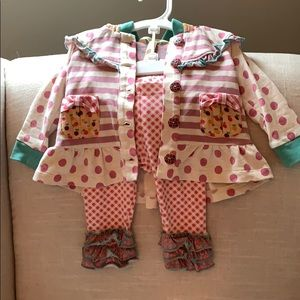 Matilda Jane long sleeve outfit 3-6m